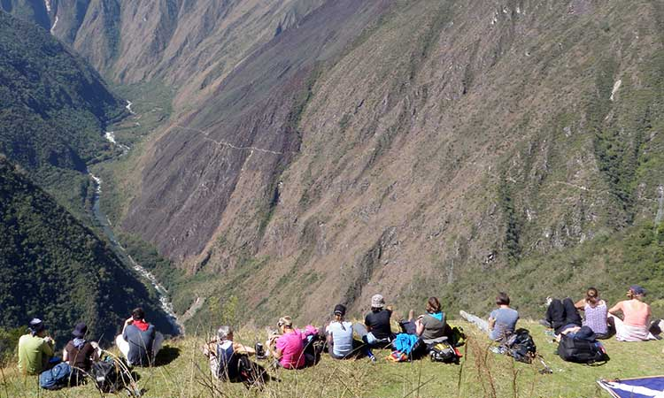 Resting on the Classic Inca Trail