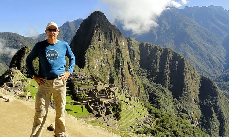 Triumphant at Machu Picchu