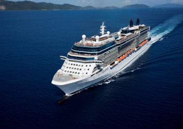 Aerial Celebrity Solstice in the Virgin Islands Celebrity Solstice - Celebrity Cruises