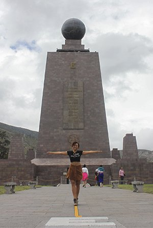 Heather at the equator