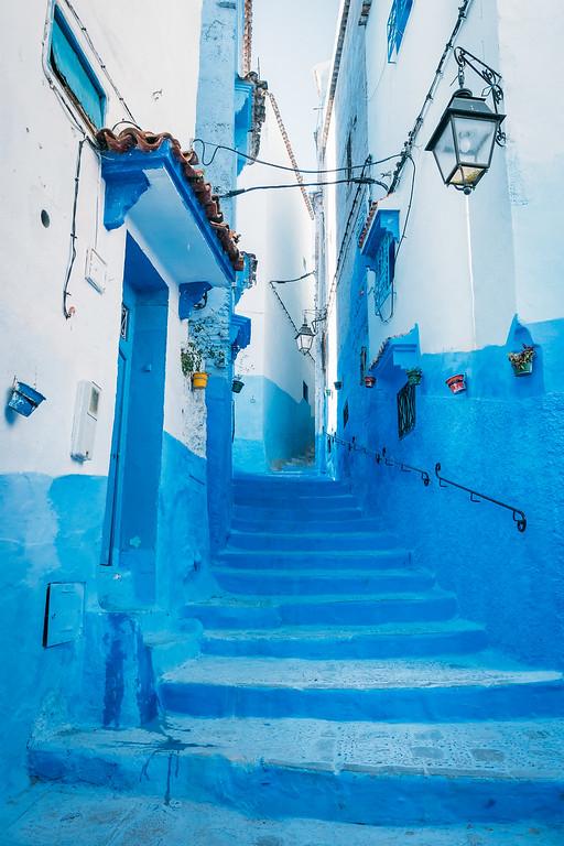 Chefchaouen Blue Stairway