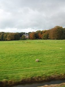 the beautiful european landscape by rail