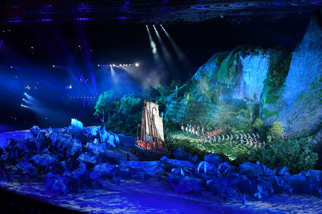 Asian games opening ceremony video the